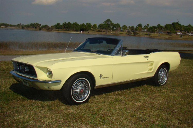 Springtime Yellow Ford Mustang Palm Beach Xlarge on 1965 Ford Mustang 6 Cylinder Engine