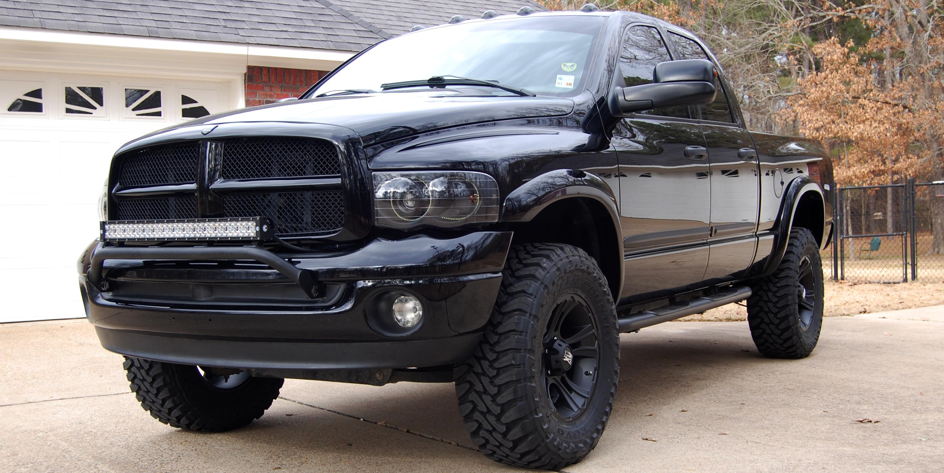 Black lifted 4wd