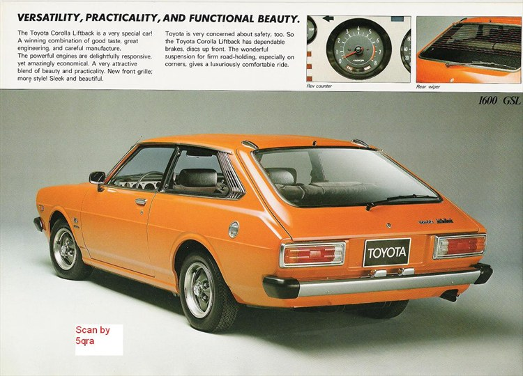 Liftbackte51 1978 Toyota Corolla Specs Photos