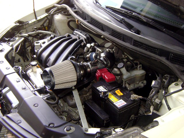 nissan tiida / versa hb 2008 - custom short ram air intake filter - march  2012