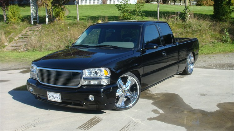 bagged22s 2001 gmc sierra 1500 regular cab specs photos modification info at cardomain. Black Bedroom Furniture Sets. Home Design Ideas