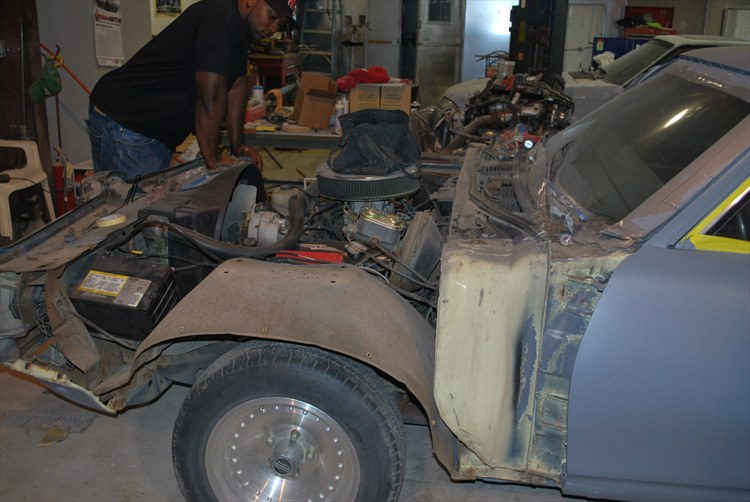 The front end being repaired - 15907459
