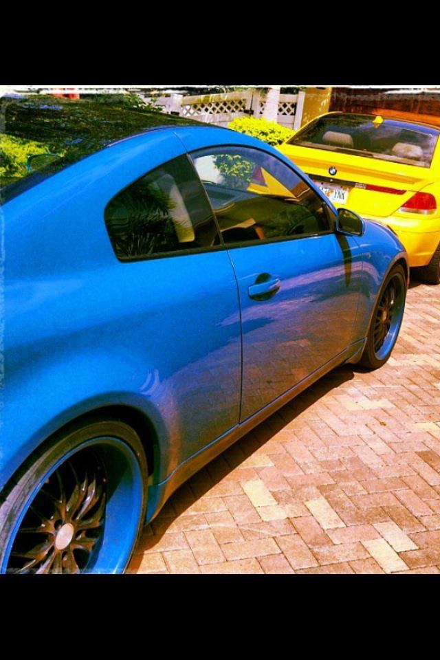 lambo blue g35 coupe - 15944576