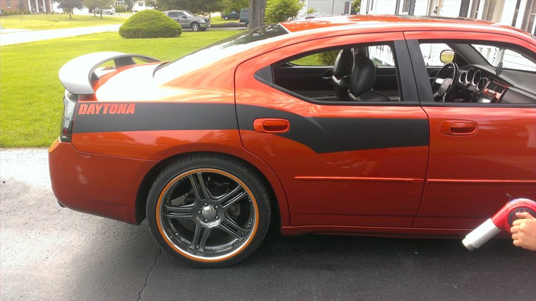 added graphics , hood, wheel stripes, trunk black outs - 16274789