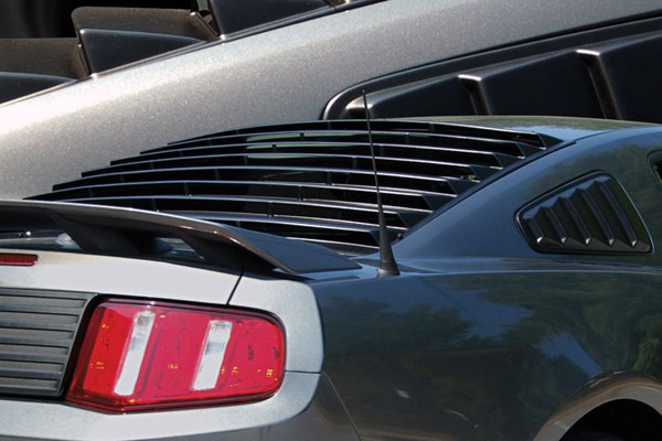 E&G CLASSICS - Factory Black EGX ABS Rear Window Louvers - 16166968
