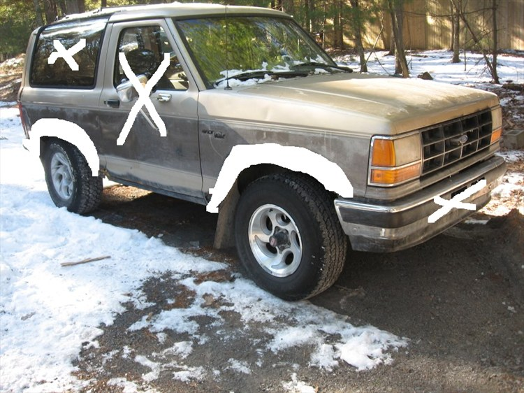 89 bronco 2 we got for 300$ trail rig build - 16309919