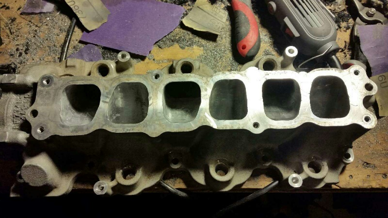 Did some porting of the intake manifold and installed bigger throttle body. - 19120029