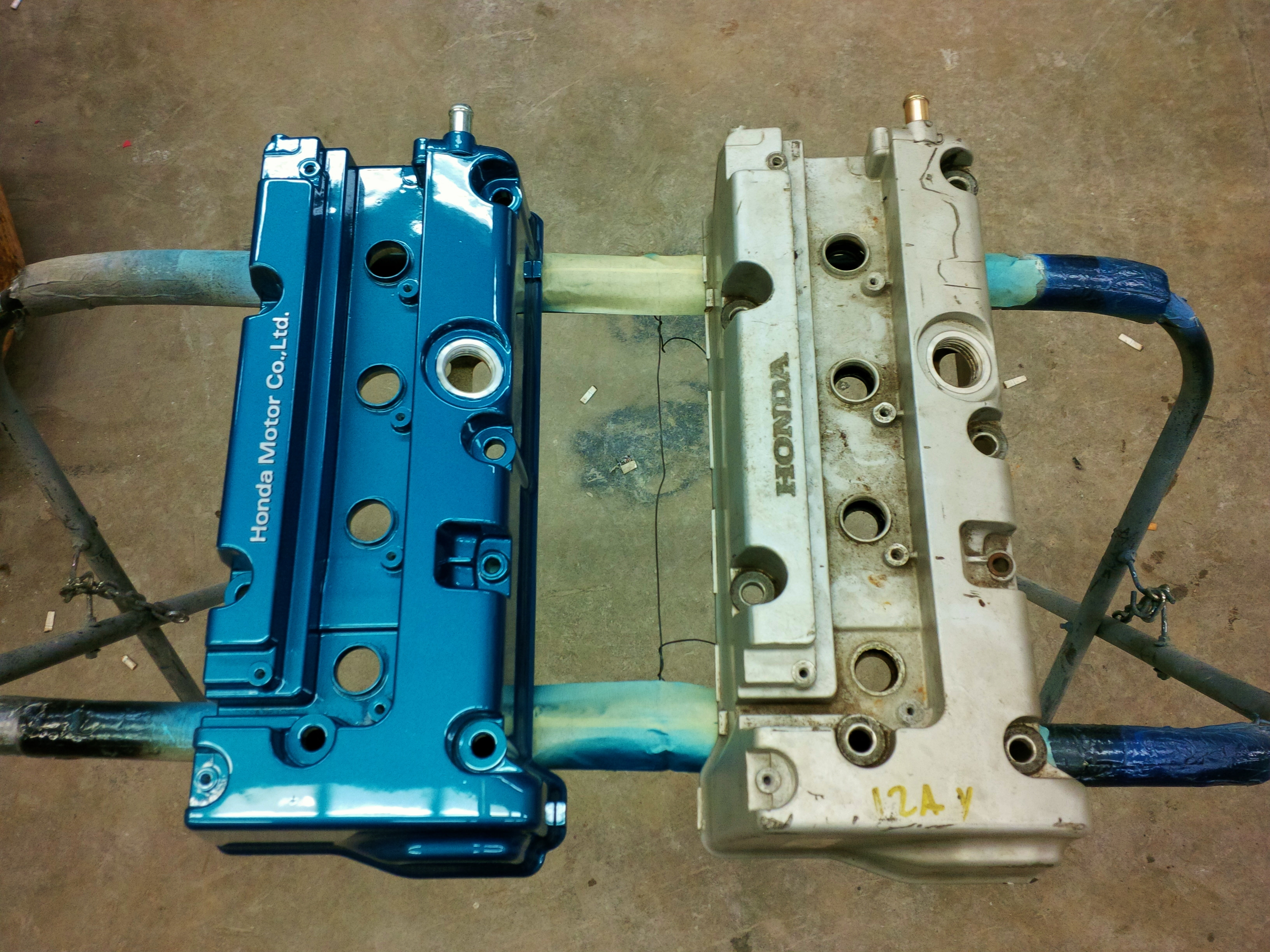 valve cover painted and cf hood re cleared  - 19024057