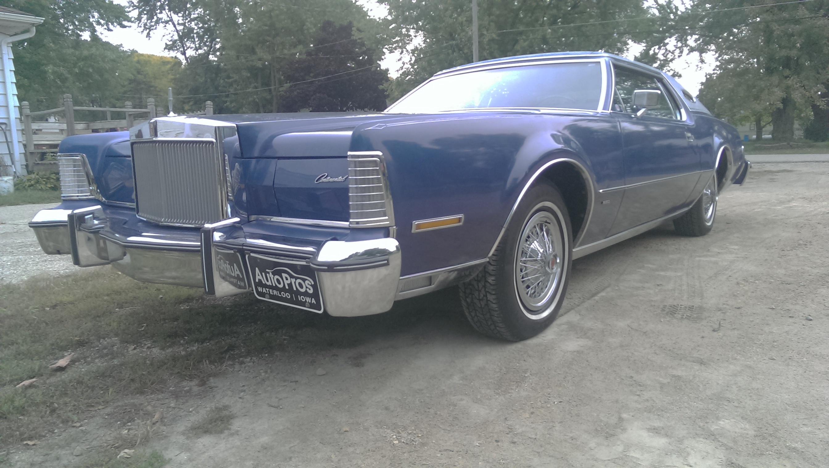 This is my 75 Lincoln Continental Mark IV (4) This actually happens to be my first car im only 15. I love this car its got the big block 460 and it just moves even when weighing 5200 pounds! - 19087068