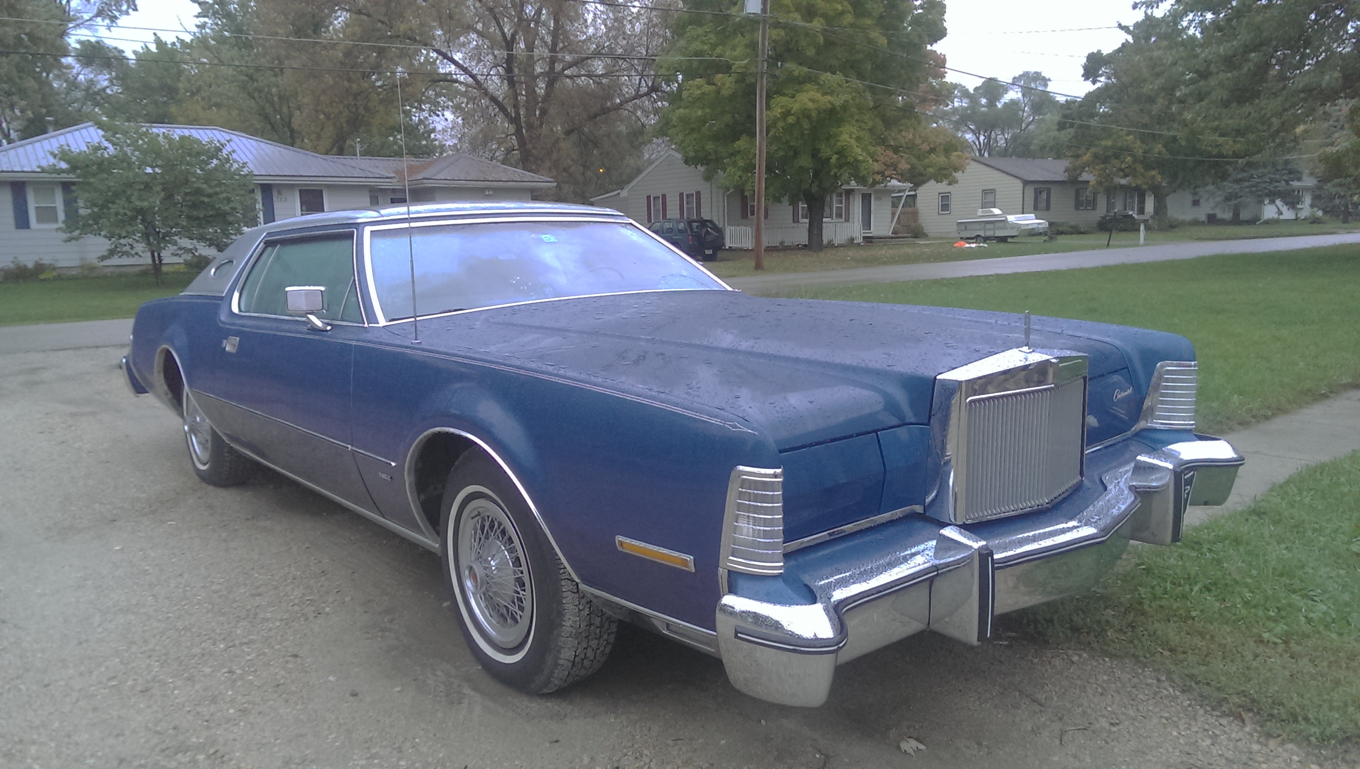 This is my 75 Lincoln Continental Mark IV (4) This actually happens to be my first car im only 15. I love this car its got the big block 460 and it just moves even when weighing 5200 pounds! - 19087070