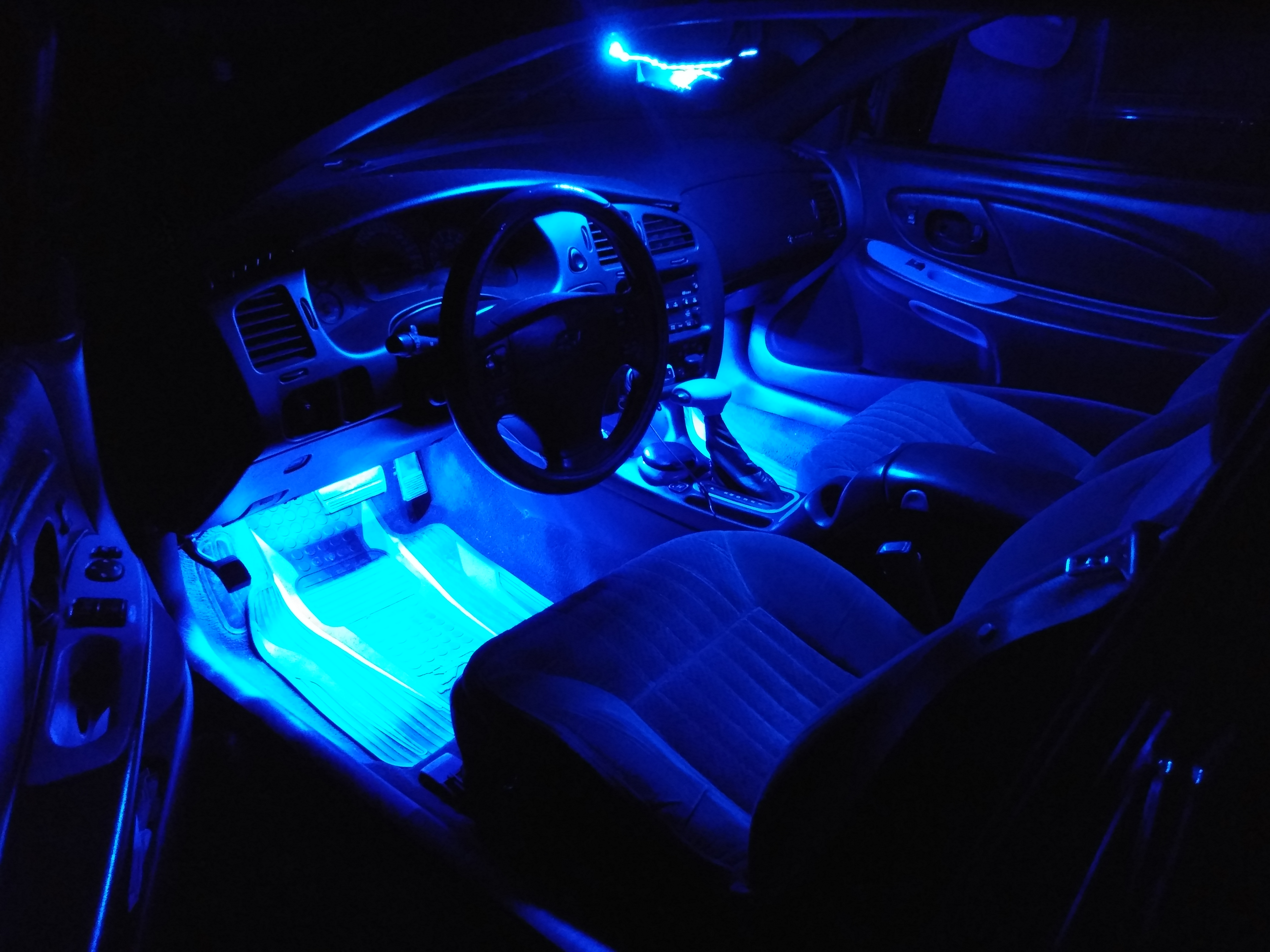 Full custom Blue LED interior lighting. Everything turns on and off like stock dome lighting. - 19147102