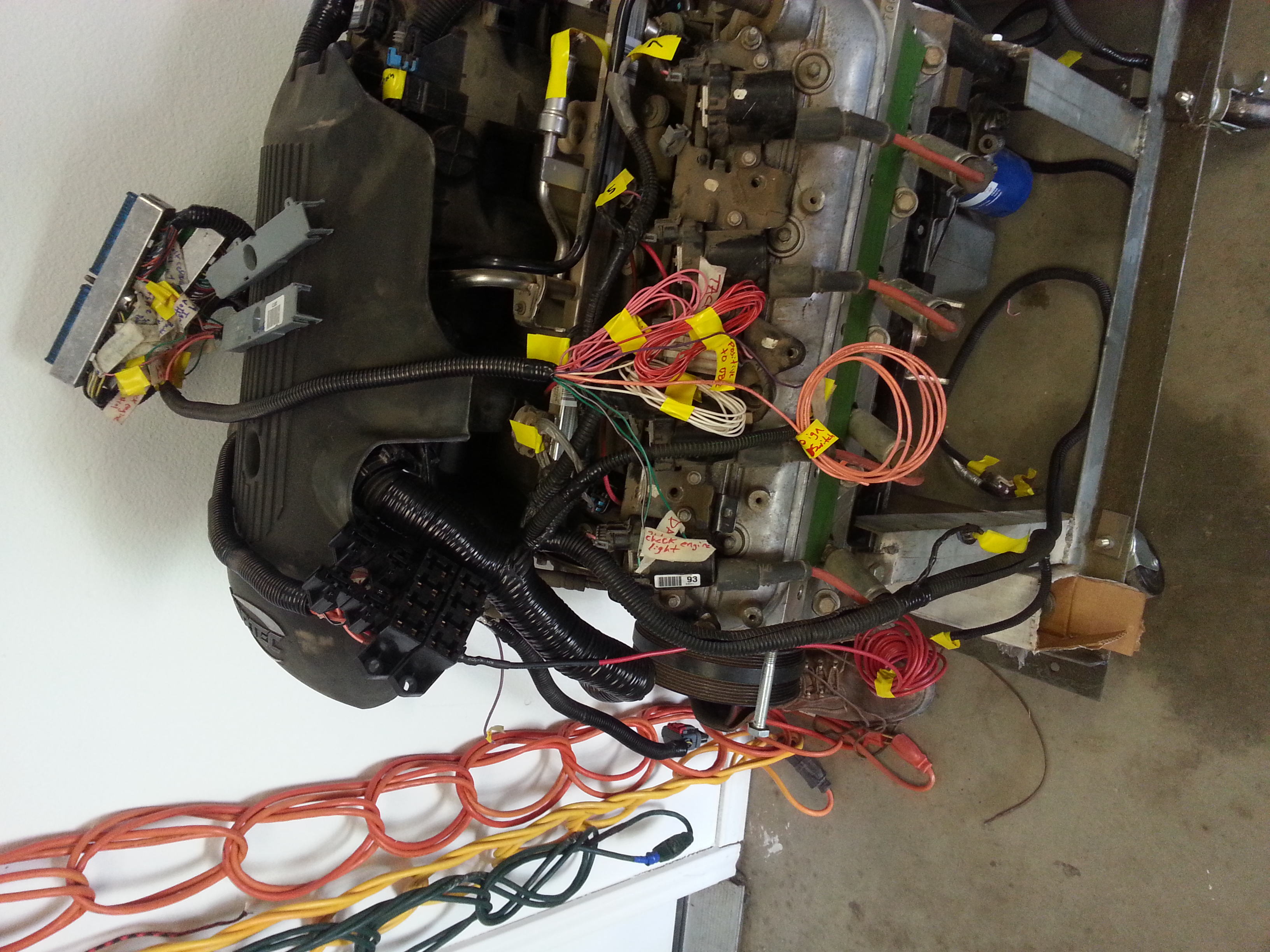Finished LSX Wiring Harness with diy fuse/relay block - 19106115