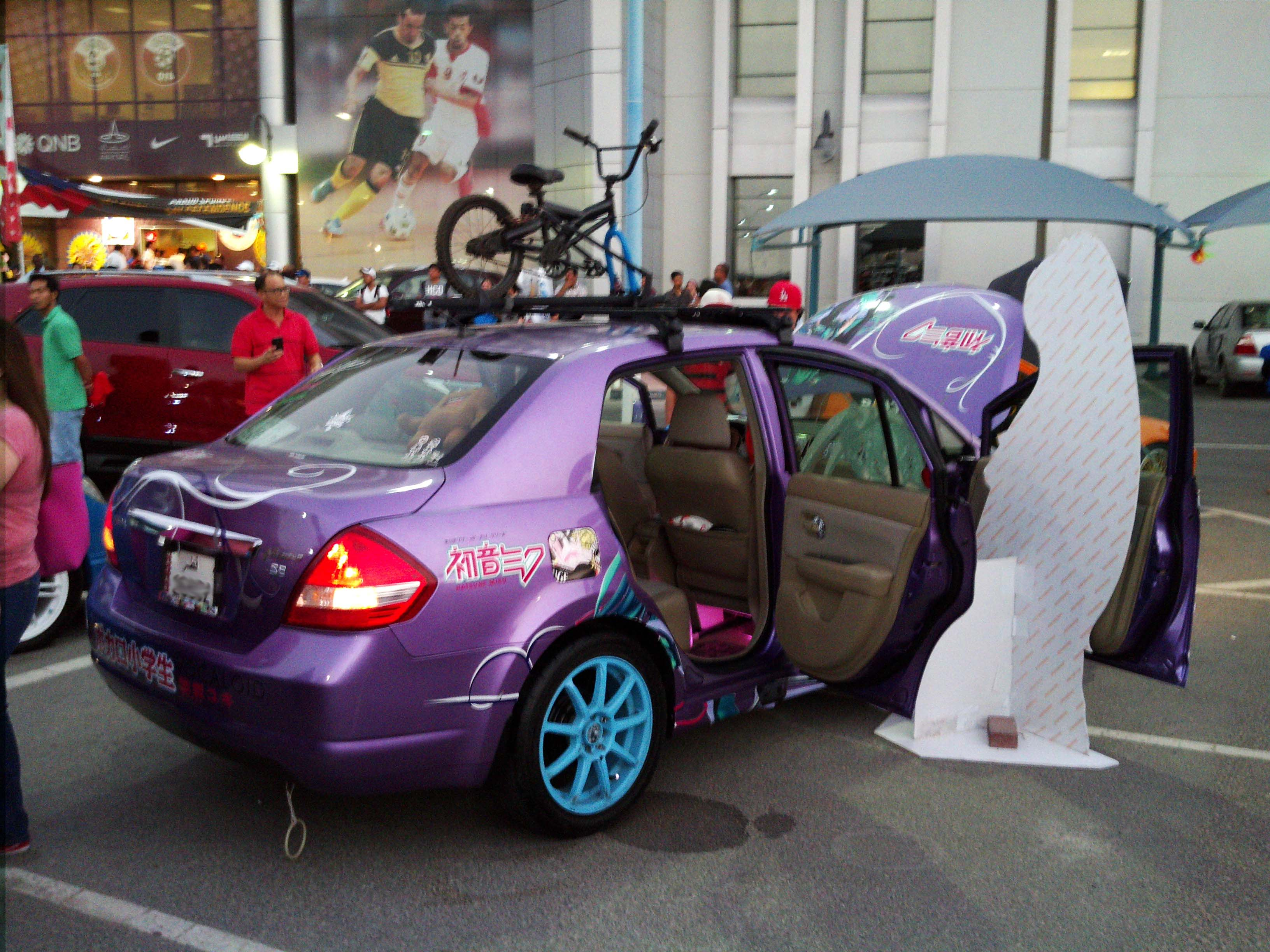 116th PID 2014 Car Show.. Itasha JDM Inspired Hatsune Miku Car. - 19058220