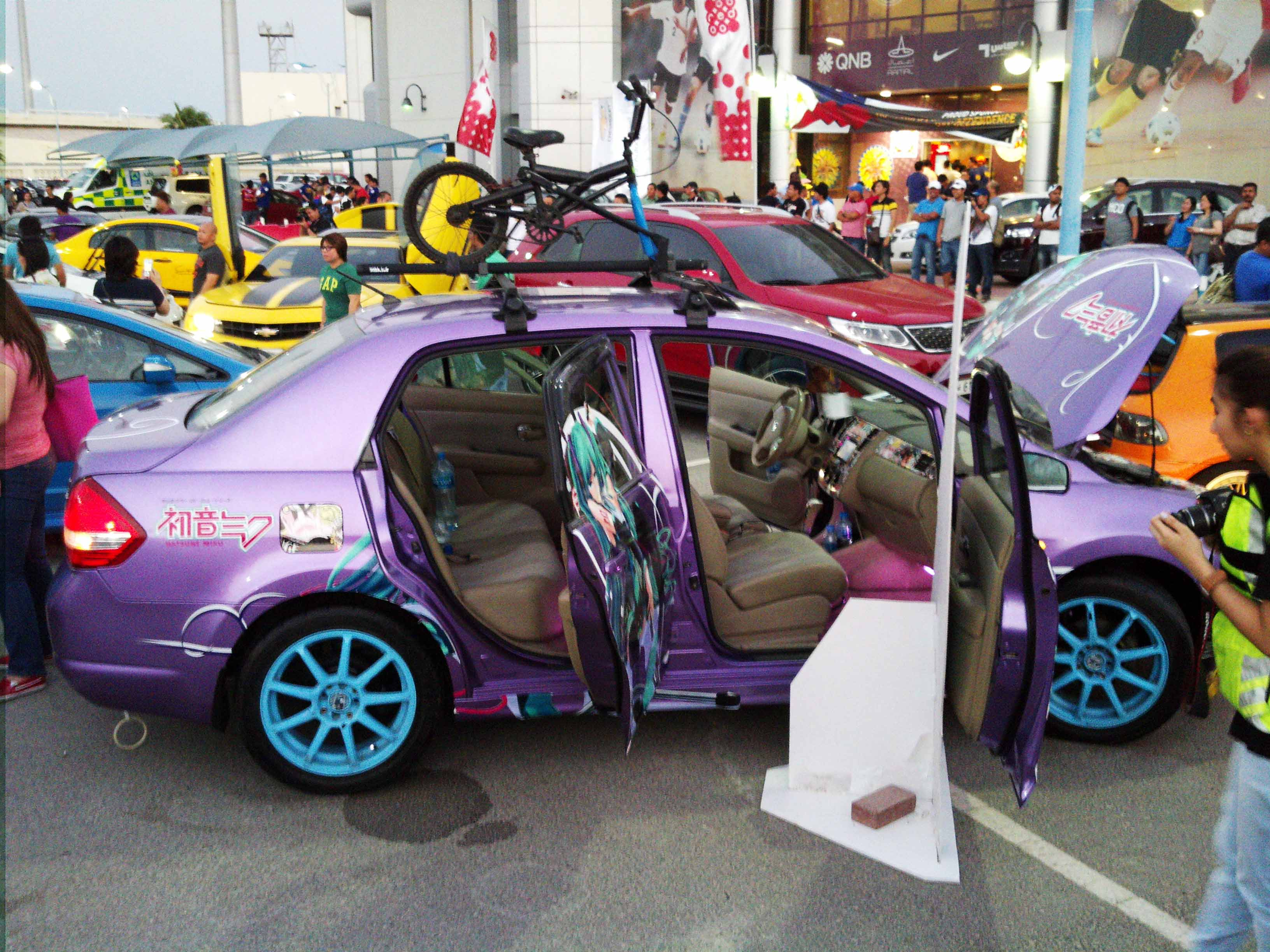 116th PID 2014 Car Show.. Itasha JDM Inspired Hatsune Miku Car. - 19058221