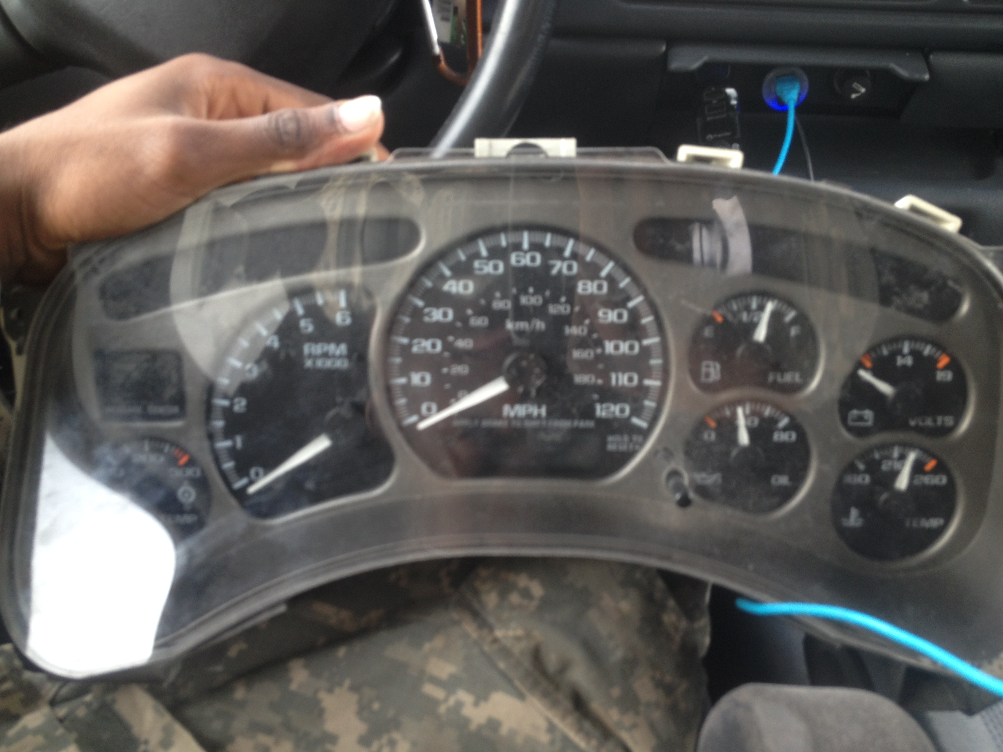 Denali gauge cluster and dash bezel(double din coming soon) - 19127383