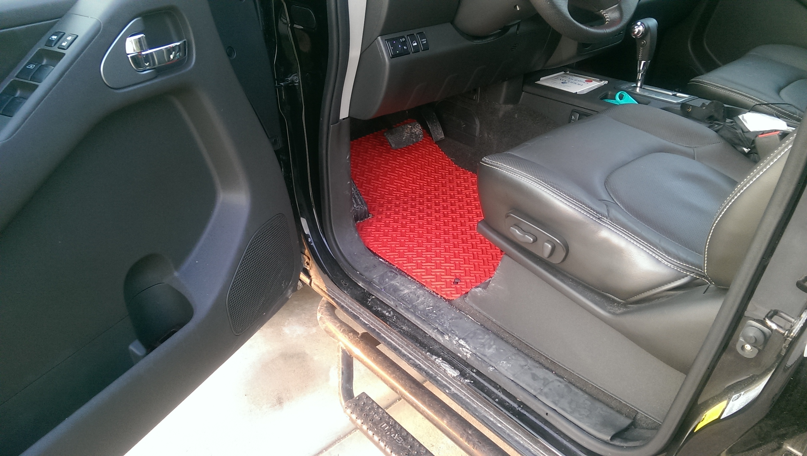 frontier mats p nissan black floor carpeted
