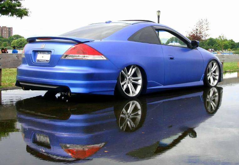 Plasti Dipped & Slammed Accord with 19