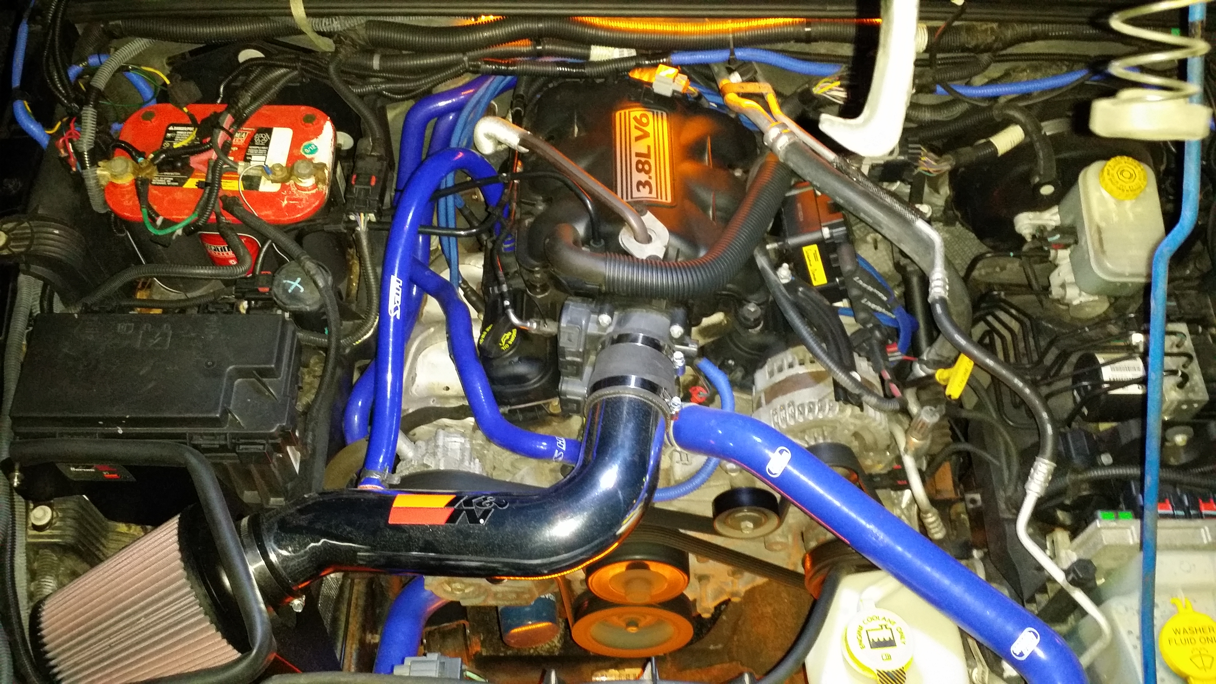 K&N Cold Air Intake  also  HPS Silicone Hoses - 19131634