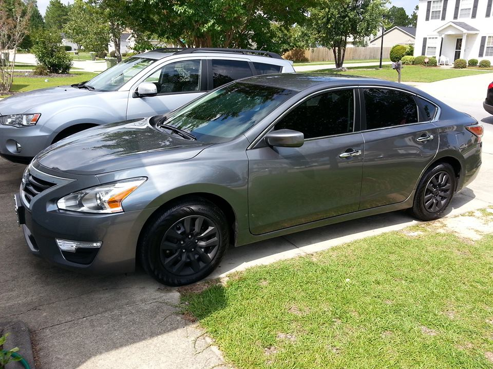 nissan altima 2014 rims. my baby with the tinted windows and plasti dipped wheels rims coming soon 19072697 nissan altima 2014 l