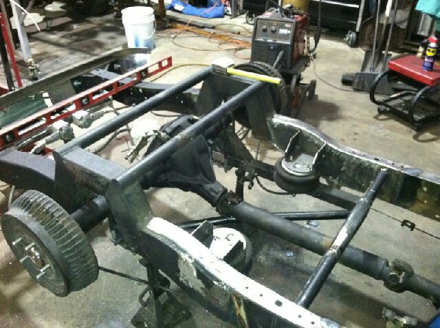 Cut the rear end. Re-did my whole air bag set up for inside of the frame. - 19066678