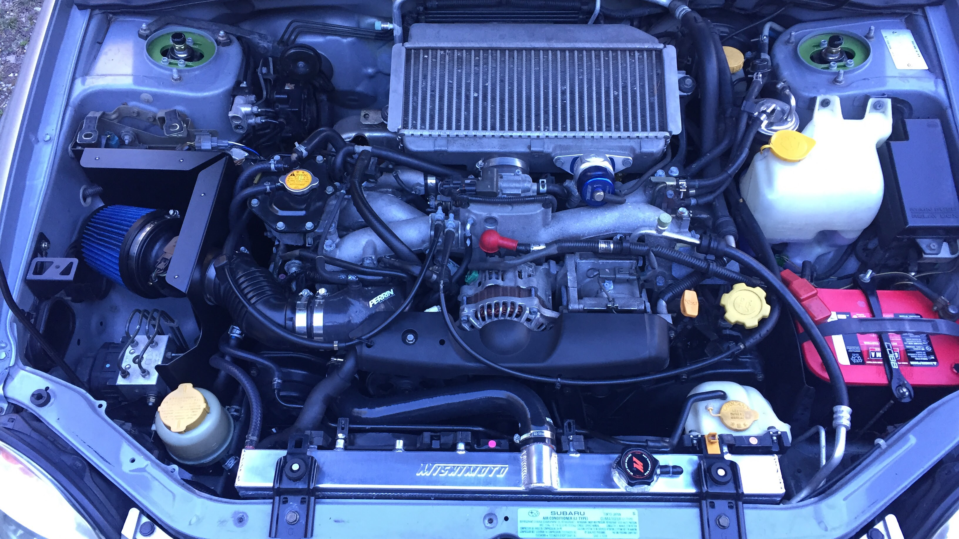 COBB Tuning SF Intake and Airbox, Mishimoto Radiator & Mishimoto Silicone Radiator Hose Install - 19170788
