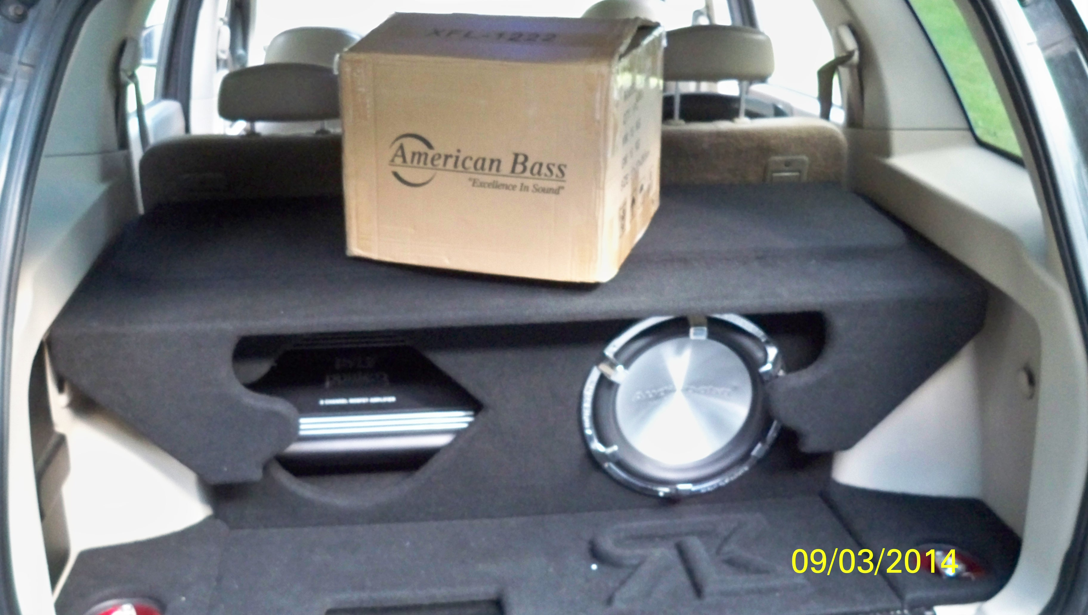 My 1st competition subwoofer has arrived. Its 39.8 LBS of pure American Bass. This subwoofer has a 220 oz. triple stacked magnet w/ dual 4-layer 3'' voicecoils.  - 19070820