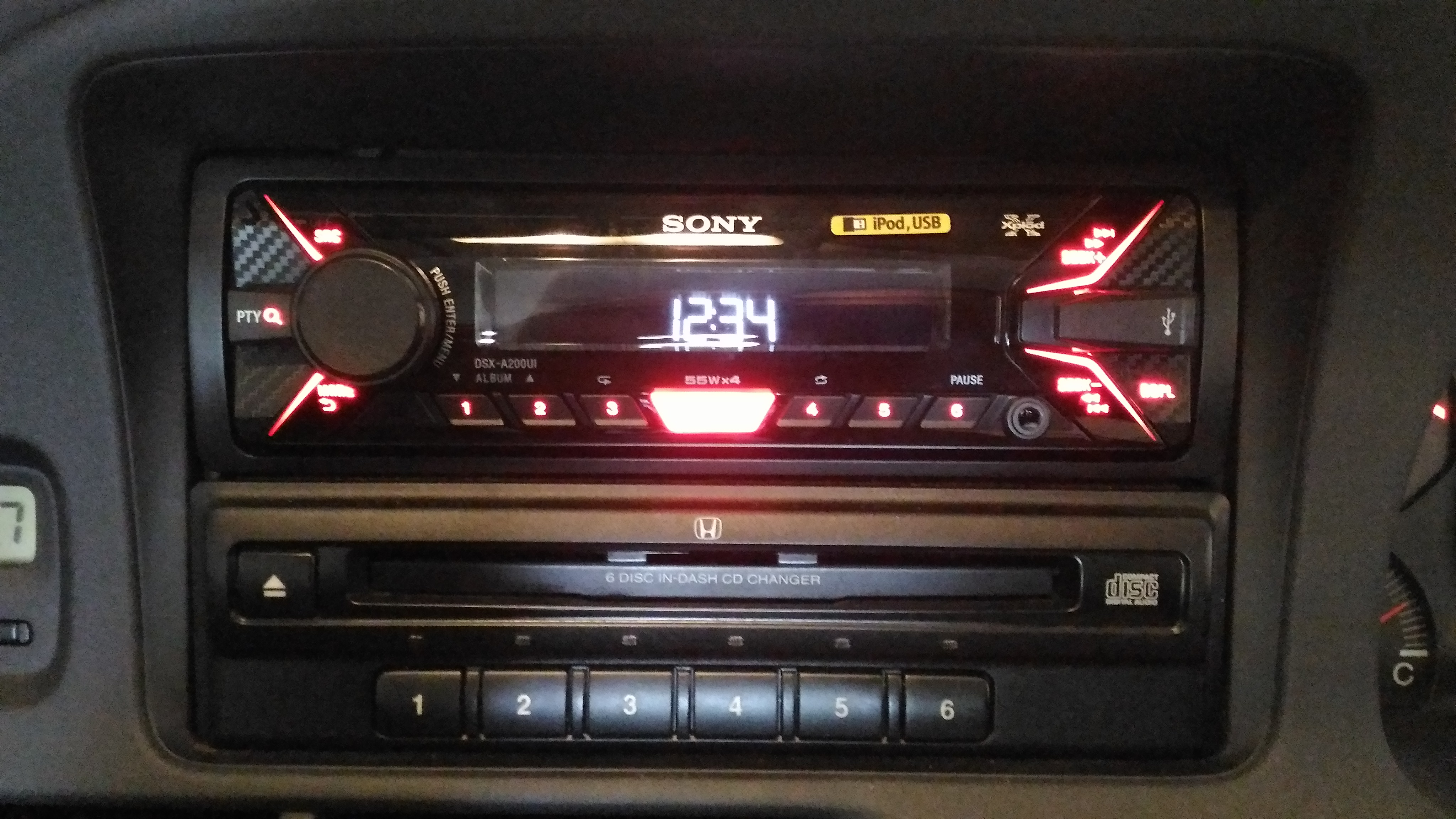 Sony Auto Parts For Honda Accord At Head Unit Installed On 2003 Odyssey