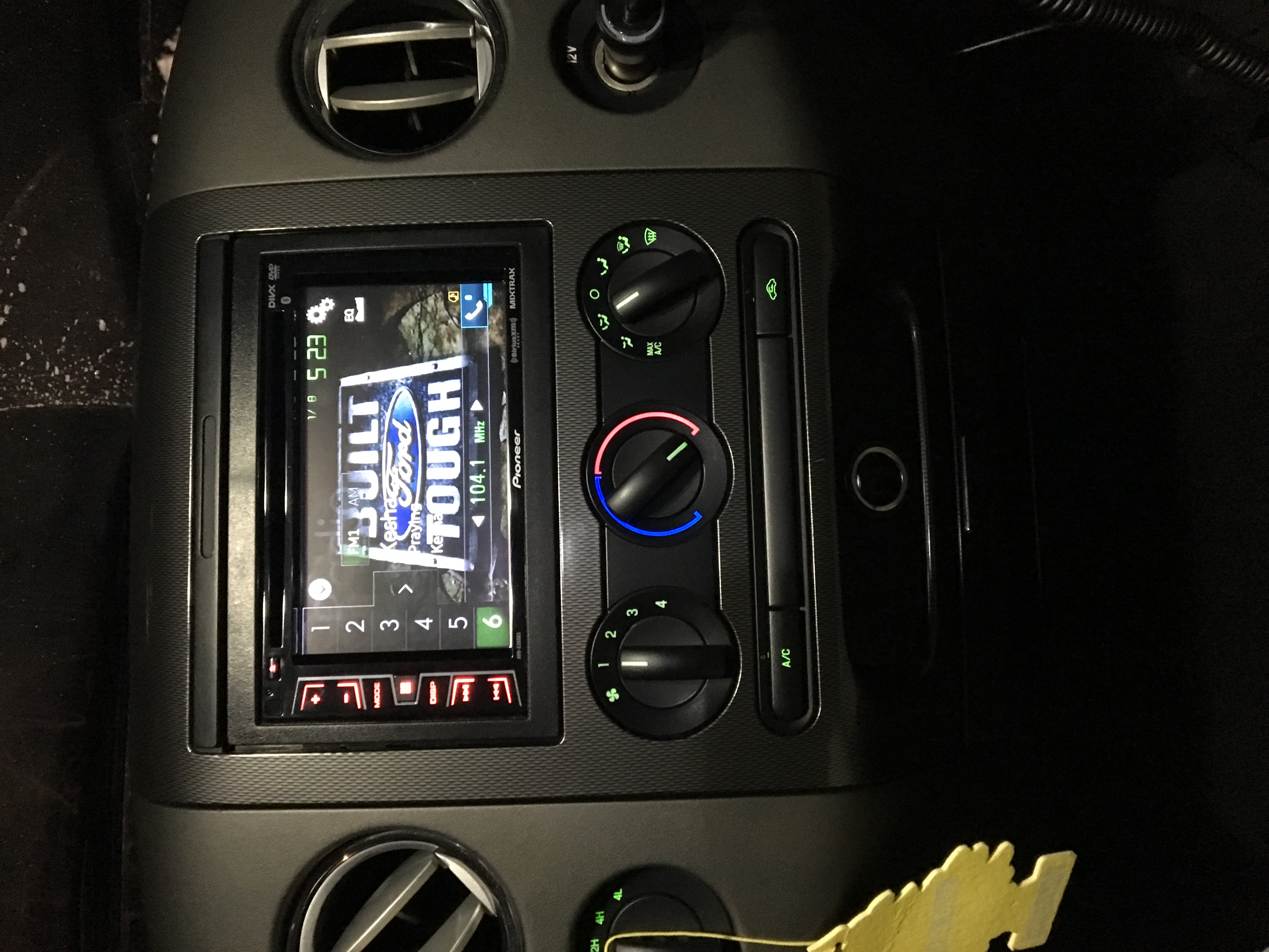 Pioneer Auto Parts On Ford At 4400bh Car Radio Wiring Harness Head Unit Avh X390bs Installed 2005 F150 Super Cab