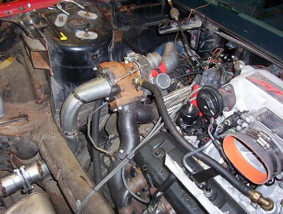 Large on 8 1 Vortec Carburated Engine