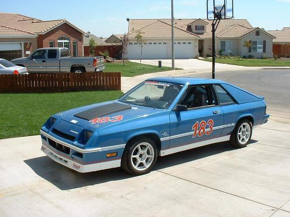 1983 Model of blue racing car-Dodge Charger