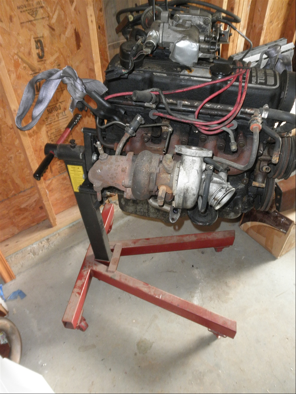 for sale 86 turbo coupe engine and engine stand for sale ford mustang forums. Black Bedroom Furniture Sets. Home Design Ideas