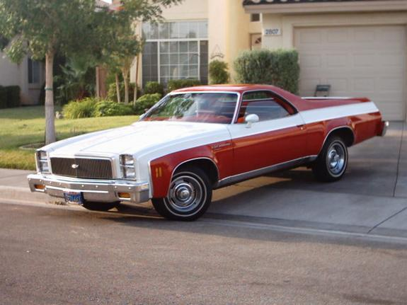 It's the car that looks like a truck - I love El Camino's ...
