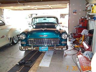 Hartbeat55 39 s 1955 chevrolet bel air in bay area ca for Garage opel bouc bel air