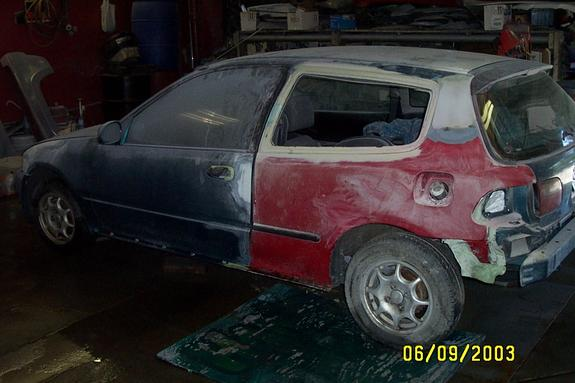 95 honda civic hatchback quarter panels