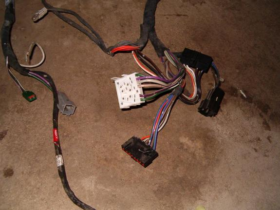 here are pictures of the interior wiring harnes(s) from a 89 dodge daytona
