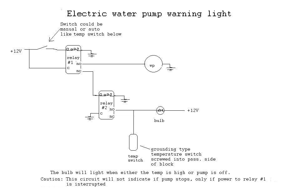 wiring gurus electric water pump warning light help