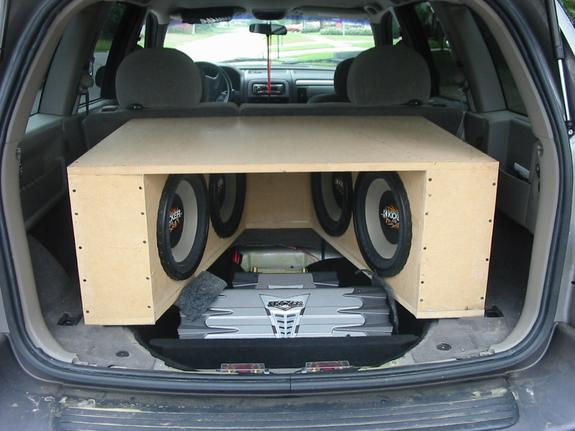 Large on Jeep Grand Cherokee Subwoofer Box