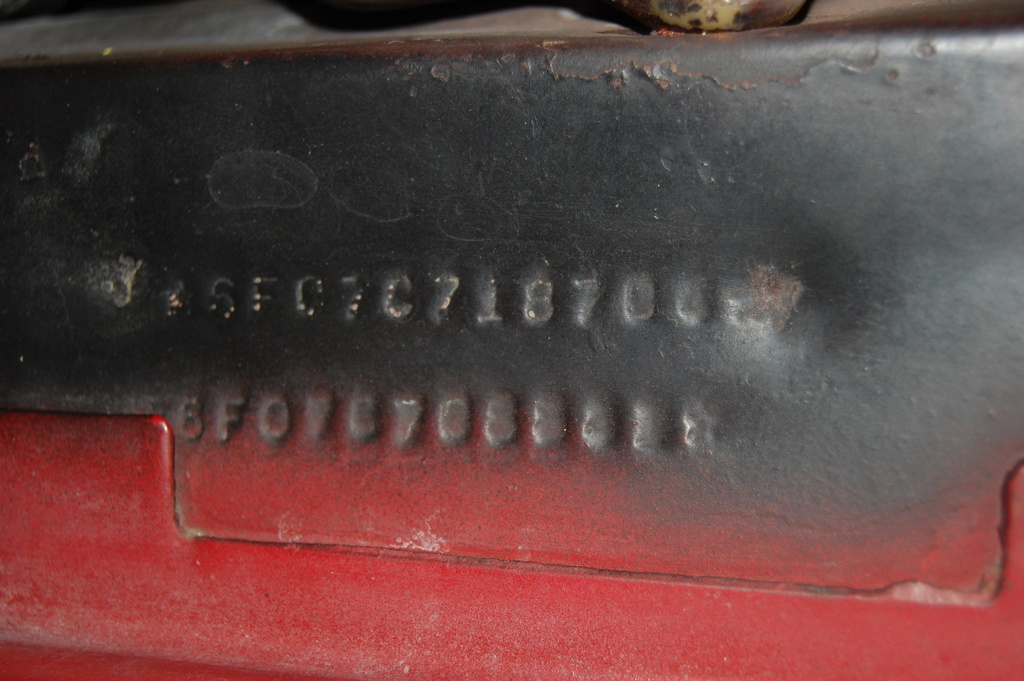 location of vin number on 1965 ford mustang 1965 ford