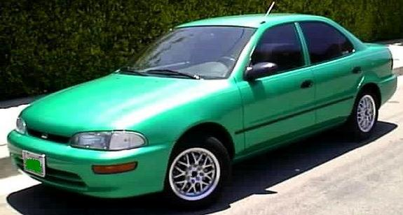 Large on 1994 Geo Prizm