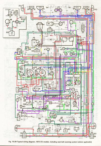 1971 mg midget wiring diagram mgb wiring diagram - somurich.com color only 1973 mg midget wiring diagram