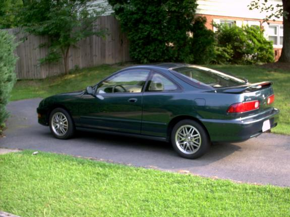 Large on Green Acura Gsr