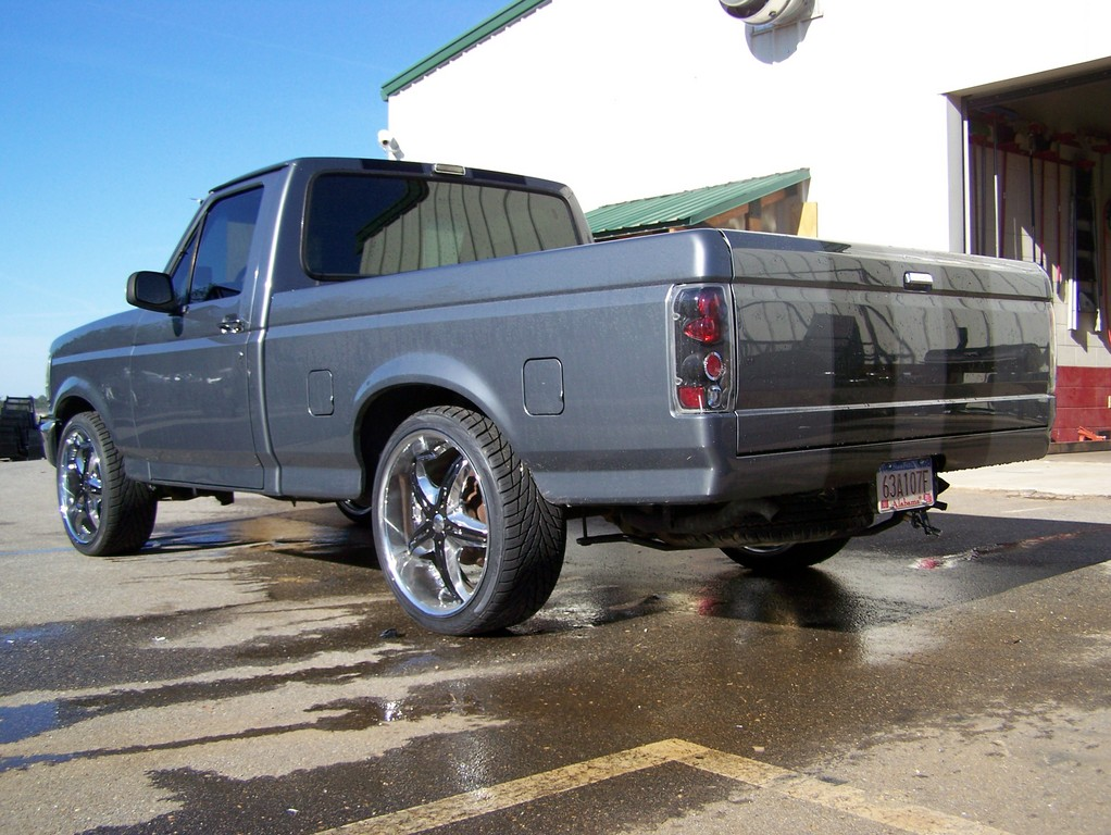 Large on Lowered 1994 Ford F 150 Lightning
