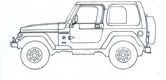 lifted jeep wrangler coloring page pages sketch coloring page