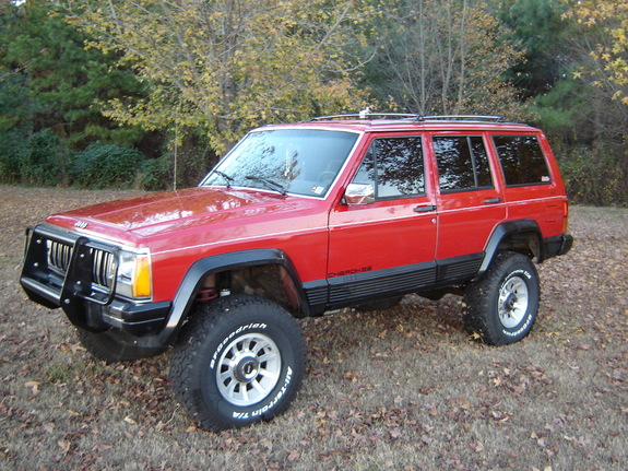 wtrbigred4x4 1990 jeep cherokee specs photos modification info at cardomain. Black Bedroom Furniture Sets. Home Design Ideas