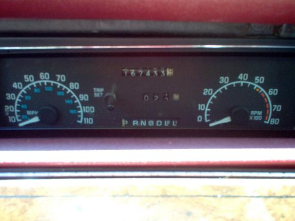 buick regal 1993 check gages