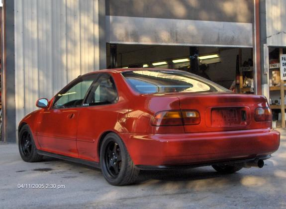 1995 red honda civic dx coupe