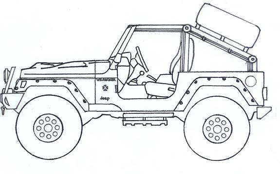 Coloring Book Jeep M ambulance for the jeep coloring book Jeep