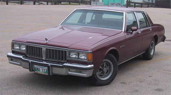 1984 Pontiac Parisienne Brougham Four Door Sedan TanBrnRenMD011312 ...