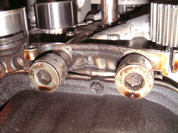 Do you have a leak at the front of the motor? Most likely a front oil