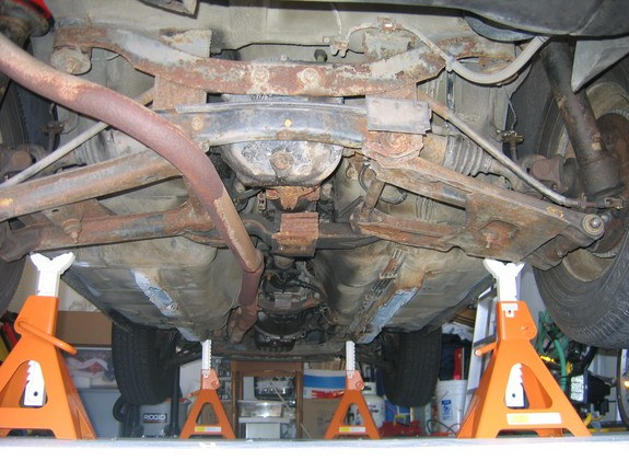 Can anyone post a picture of rear jack stand points when ...